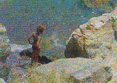Woman on Rock, 2016