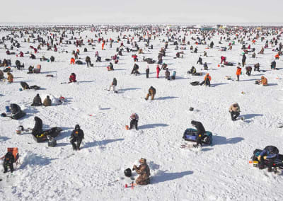 Ice Fishing, Brainerd, Minnesota, 2014