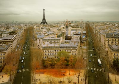 Paris From The Arc De Triomphe, France, 2010