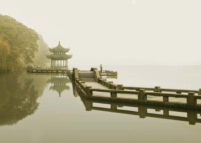 Man Watching Sunrise, Hangzhou, China, 2011