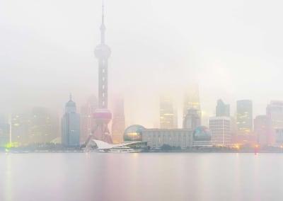 Shanghai Skyline (Dawn), China, 2011