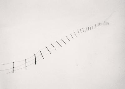 Hillside Fence, Study 4, Teshikaga, Hokkaido, Japan