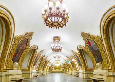 Kievsskaya Metro Station (East), Moscow, Russia, 2015