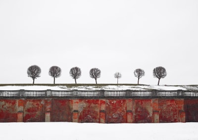 Red Wall, Peterhof, Russia, 2015