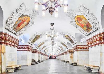 Kievsskaya Metro Station, Moscow, Russia, 2015