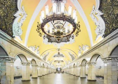 Komsomolskaya Metro Station, Moscow, Russia, 2014