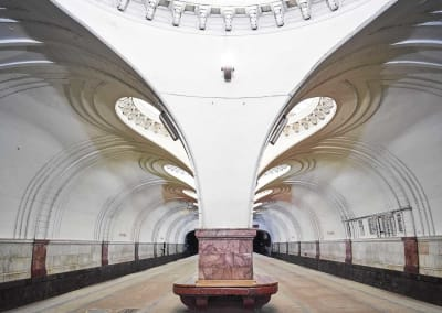 Sokol Metro Station, Moscow, Russia, 2015