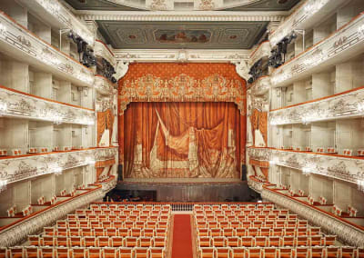 Mikhailovsky Theatre Curtain, St Petersburg, Russia, 2014