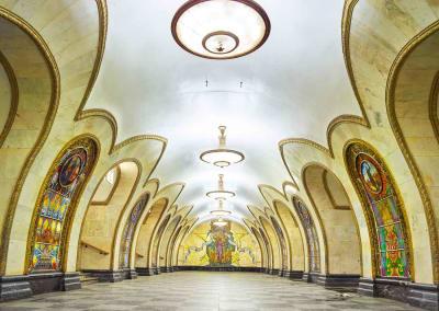 Novoslobodskaya Station, Moscow, Russia, 2014