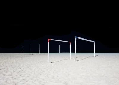 Goalposts II, Copacabana Beach, Rio De Janeiro, Brazil, 2013
