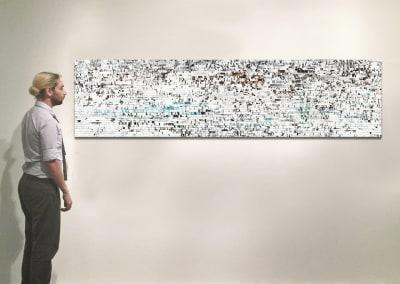 "Marmor, 26"" x 106"", Installation - Georg Kuettinger"