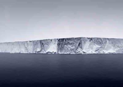 Giant Tabular Iceberg In Fog, Antarctica, 2007