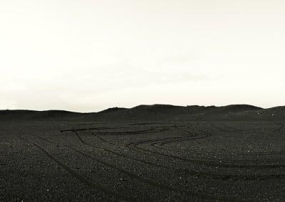 Lava Field An 4×4 Tracks, Greenland, 2008