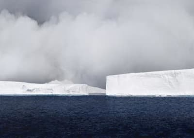 Icebergs Generating Fog, Antarctica, 2007