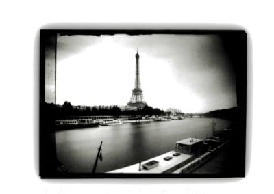 Eiffel Tower & Barge, Paris, Edition 2/15, 1991. Dianne Bos