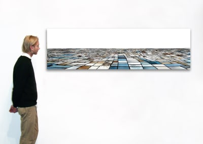 "Salinas - Seasonal Sequence, 21"" x 71"", Installation - Georg Kuettinger"