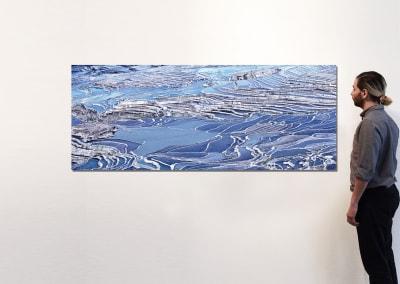 "Rice Terraces (Blue), Yuanyang, Yunnan, CN, 30"" x 75"" - David Burdeny"