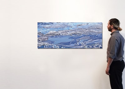 "Rice Terraces (Blue), Yuanyang, Yunnan, CN, 20"" x 50"" - David Burdeny"