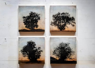 Tree grid, 4 panels (Family series) - Stephen Hutchings