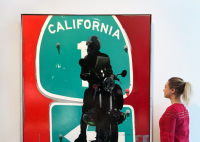 California, US 1 at Route 66 (Red Rider Looking North), Installation - James Lahey at Kostuik Gallery