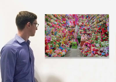 Flower Vendor, Yiwu, China 2019, (Installation) by David Burdeny at Kostuik Gallery