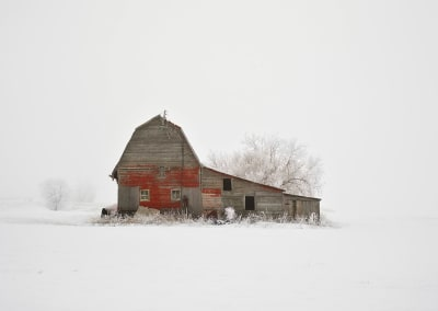 Barn with Hoarfrost, Saskatchewan, CA