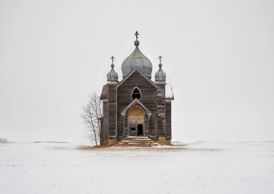 Weathered Church, Saskatchewan, CA