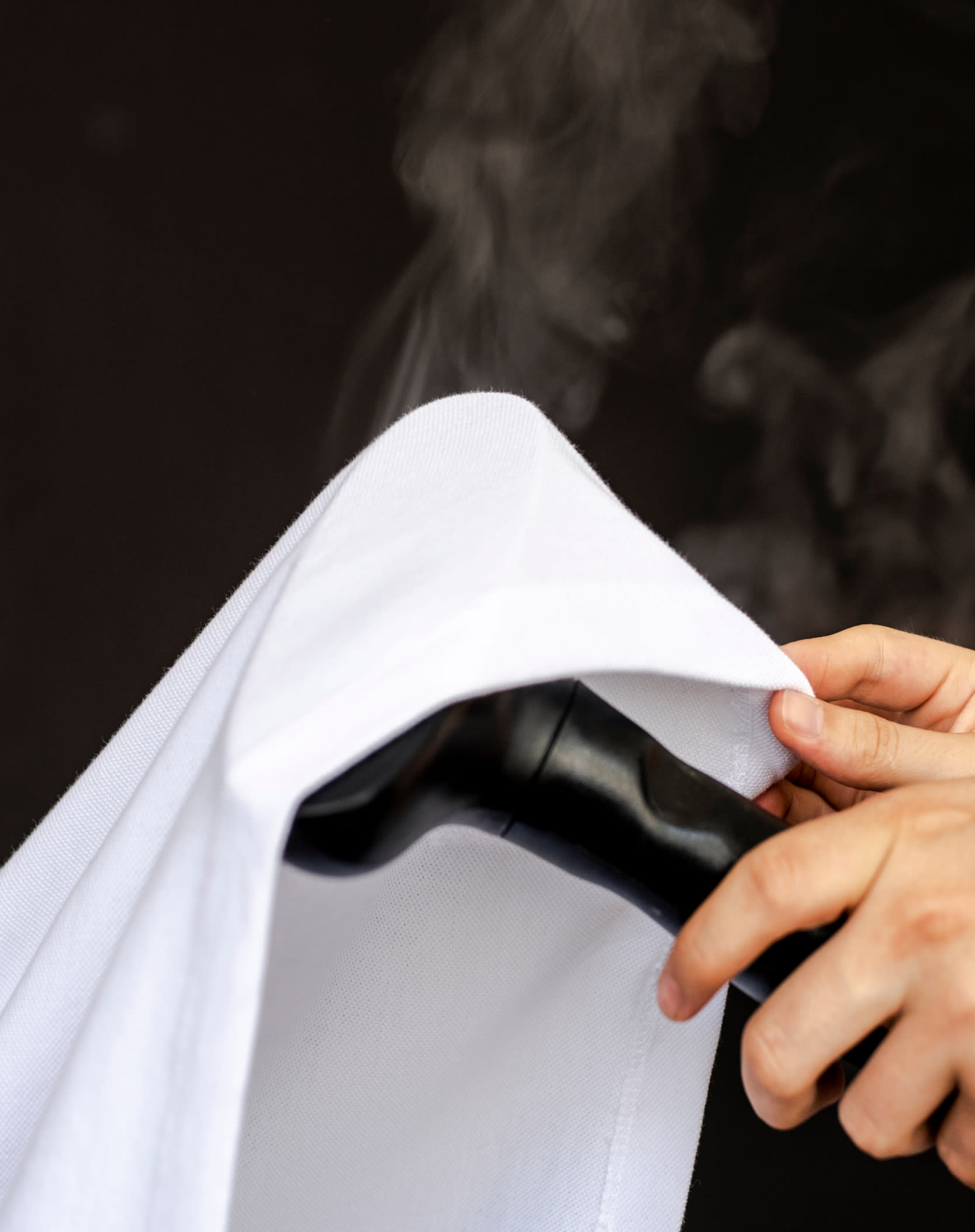 Image of a Kotn t-shirt being steamed