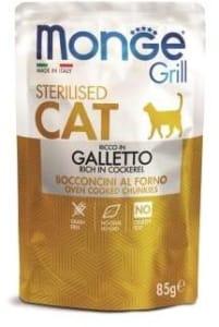 Monge Cat Grill Pouch паучи для стерилизованных кошек итальянская курица 85г