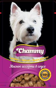 Chammy консервы для собак 85 гр мясное ассорти в соусе