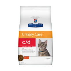 Сухой диетический корм для кошек Hill's Prescription Diet c/d Urinary Stress  при профилактике цистита и мочекаменной болезни (мкб),  в том числе вызванные стрессом с курицей, 1.5 кг