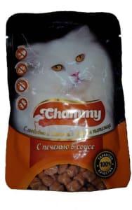 Chammy консерва для кошек 85 гр печень в соусе