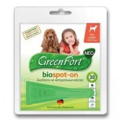 Капли на холку GreenFort Neo для собак 10 - 25 кг