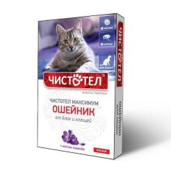 Ошейник от блох Чистотел Максимум для кошек Красный