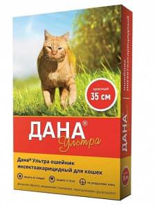 Ошейник от блох ДАНА ультра для кошек красный