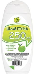 Шампунь Доктор ЗОО для кошек с ароматом яблока, 0.250л