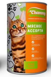 Chammy консерва для кошек 415 гр мясное ассорти  в соусе