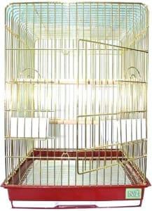 Клетка для птиц № 1 ( 47 * 47 * 65 ) золотая прямоугольная комплект 904