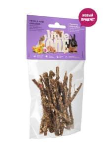 Лакомство для грызунов Little One Ветви с лепестками и травами 35 гр