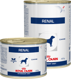 Royal Canin RENAL (БАНКА) 0.2кг, Диета для собак при хронической почечной недостаточности