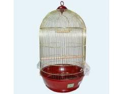 Клетка для птиц № 1( 40 * 70 ) круглая комплект 330 золото