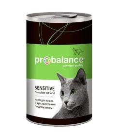 ПРОБаланс консервы для кошек  чувствительное пищеварение, 0,415кг