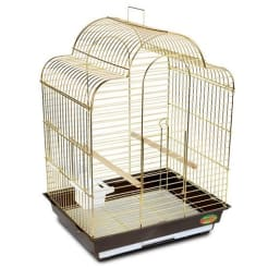 Клетка для птиц № 1301 золото ( 52 * 41 * 71 )