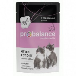 ПРОБаланс консервы для котят телятина в желе,  0,085кг