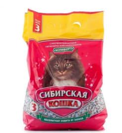 Наполнитель сибирская кошка, комфортное впитывание, 3л/2.5кг