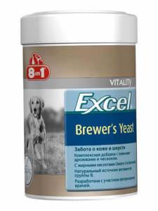 8 в 1 Эксель Дрожжи пивные для собак крупных пород (80 таблеток) 300мл