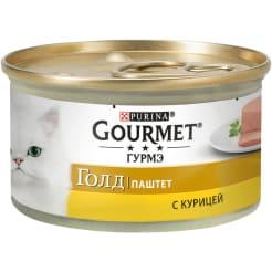 Влажный корм Gourmet Голд Паштет для кошек, с курицей, 0.085кг