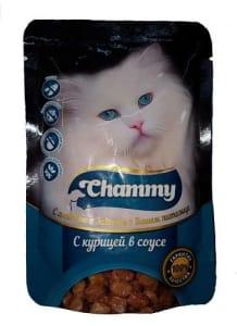 Chammy консерва для кошек 85 гр курица в соусе