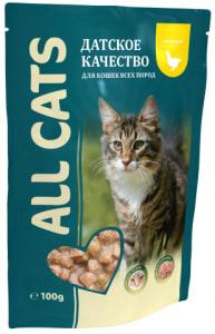 All Cats пауч для кошек со вкусом курицы в соусе, 0.085кг