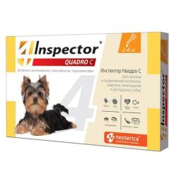 Капли на холку Inspector Quadro для собак 1 - 4 кг